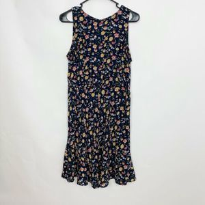 J. CREW MERCANTILE Navy Ruched Waist Dress Floral